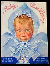 Un-Cut Paper Doll Book Baby Bunting, w Full Page Maud Fangel Illustration L1040