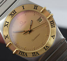 OMEGA CONSTELLATION 18K Gold Steel Quartz Mens Watch 396.1070  OMEGA BOX/GTEE
