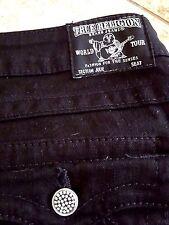 Sz 29 True Religion Jeans Womens JULIE Skinny Black Crystal Jewel Gems  LONG