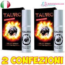 x2 SPRAY RITARDANTE TAURO EXTRA FORTE PER UOMO CONTRO EIACULAZIONE PRECOCE 5ml