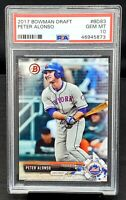 2017 Bowman Mets RC Star PETE ALONSO Rookie Baseball Card PSA 10 GEM MINT Low Po