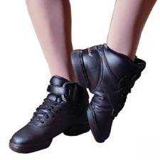 Black Capezio DS01 hi-top split sole dance sneakers - size UK 7.5