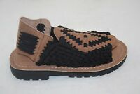 MEN'S CHUBASCO HAND MADE IN MEXICO CH-AZTEC NYLON BLACK COFFEE SANDAL MSRP $90