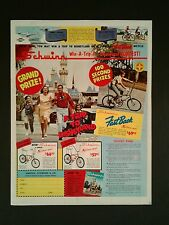 1966 Schwinn Sting~Ray Fast Back Bicycles Disneyland Disney Vintage Bike Art AD