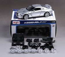 Maisto 1:24 Nissan GT-R Diecast Metal Assembly Line KIT Model Car Silver