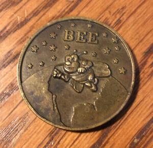 "Challenge Coin US NAVY SEABEE BIOENVIRONMENTAL ENGR 1 1/2"" #718"
