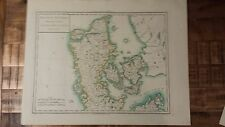 Very Nice, Antique Hand Colored map of the King. Of Denmark- P. Tardieu, c.1790