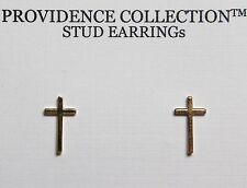 Alex and Ani Cross 14K Gold Plated Stud Post Earrings Precious Metal Coll