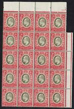 BRITISH SOMALILAND 1905 KEVII 1A BLOCK MNH ** WMK MULTI CROWN CA
