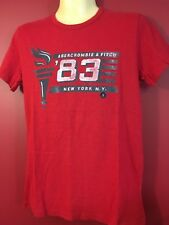 ABERCROMBIE & FITCH Men's Red Muscle Graphic T-shirt - Size Small - NWT