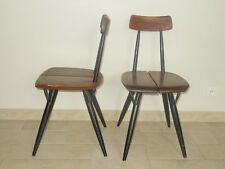 lot 2 chaise bois TAPIOVAARA PIRKKA wooden chair LAUKAAN PUU finland design 1955