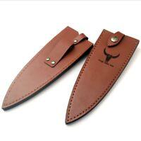 210mm Japanese Chef Knife Sheath Leather Deba Shasimi Fish Saya Blade Guard Case