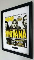Nirvana-Kurt Cobain-Framed Original NME-Plaque-Certificate-NEW-RARE