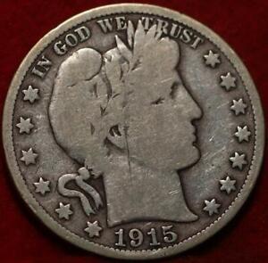 1915-S San Francisco Mint Silver Barber Half Dollar