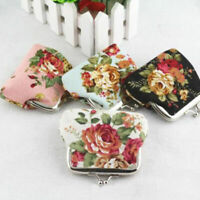 Women Vintage Flower Canvas Change Money Purse Small Wallet Hasp Card Coin Purse