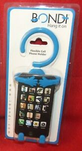 Bondi Hang It On Flexible Cell Phone Holder, Funky Rico Inc, Black or Blue - NEW