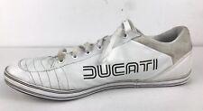Rare vintage Puma Ducati 65cc Low White Sneakers Gym Shoes Sports Size 14 US