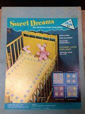 Vintage Sweet Dreams Children's Afghan by Bucilla (Kit #7762) Inst & Flower Loom