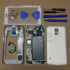 White Full Housing Case Frame Screen Glass Lens For Samsung Galaxy S5 G900 G900F