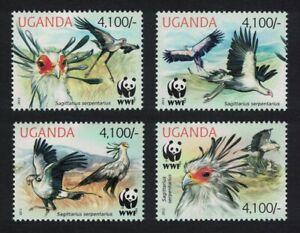 Uganda WWF Secretarybird 4v 2012 MNH
