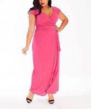 Igigi Dress Plus Size 3X 22 24 Pink Gown Blake Style Party Dress Faux Wrap