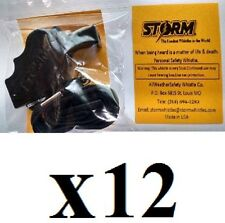 Storm whistle black with breakaway lanyard - Pack of 12