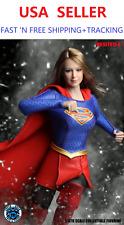 *BACKORDER* 1/6 SUPERGIRL Head Sculpt w/ Uniform Set A for SUNTAN Phicen body