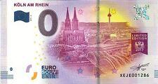 ALLEMAGNE Köln am Rhein 2, 2017, Billet 0 € Souvenir