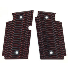 G10 Grips for Sig Sauer P938 Ambi Safety Red/Cherry Black DT4J406