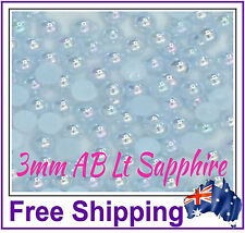 3mm Half Pearls Embellishment - 200 Pack - AB Lt Sapphire - By Gypsy Bling