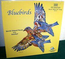 "SunsOut ""Bluebirds"" Shaped Jigsaw Puzzle - 1000 Pieces - 3 Feet Long - New!"