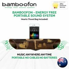 BambooFon - Energy Free Portable Sound System - Hearts (Travel Bag Included)