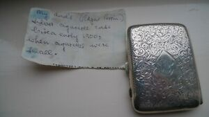 Sterling Silver Cigarette Case - Birmingham 1913 by John Rose.
