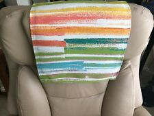 Recliner Head Cover, Furniture Protector, Spanish Horizon, Size14x30, Polyester
