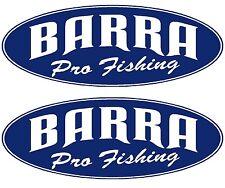 "2x BARRAMUNDI BOAT NAMES - ""BARRA Pro Fishing"" Decal Sticker Graphics Kit"