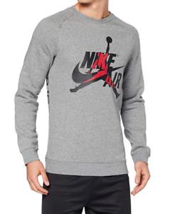 Air Jordan Sweatshirt Mens Small Authentic Nike Classic Jumpman Logo Crew Gray