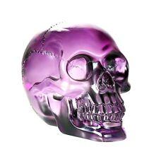 Purple Translucent Skull.Clear Crystal Like Human Head Bust Statue Figurine