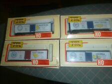 Lot of 18 Ho Train Boxcars (1970's) Most are Train-Miniature Brand from 1970's