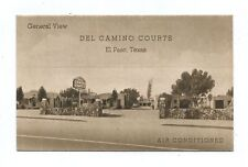 El Paso Texas Del Camino Courts Travel Lodging ASCO Portraitone Vintage Postcard