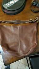 LUCKY BRAND Large Brown Leather Hobo Bucket Tote Purse Carryall Shoulder Bag
