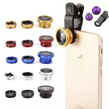 3 In 1 Fish Eye Wide Angle Macro Camera Lens Kit For Mobile Phones iPhone