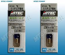 MTEC Lampada Alogena G18 BA15S R10W 12V 10W Luci Posizione Colore Azzurro 6000K