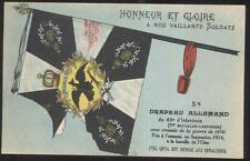 Postcard FRANCE  Drapeau Allemand Regiment Guide on Flags 1910's