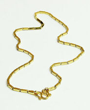 "22k solid gold baht necklace handmade from Thailand 14""  #b4"
