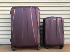 New other Samsonite hard shell purple luggage 2 piece set