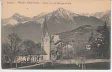 Ansichtskarte Italien  Meran - Obermais  Partie mit St. Georgs Kirche