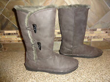 Womens Sz 6 Sonoma Grey Fur Lined Winter Boots GREAT