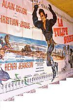 alain delon LA TULIPE NOIRE ! christian jaque affiche rare geante 3x4m  1963