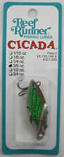 "REEF RUNNER CICADA BLADE BAIT LURE 3/8 OZ. 1-3/4"" GOLD/GREEN C4-202"