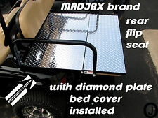 Madjax model Golf Cart Diamond Plate Flip Seat BED Cover ezgo-club car-yamaha